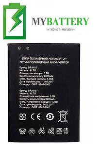 Оригинальный аккумулятор АКБ (Батарея) для Bravis Alto 2000 mAh 3.7V