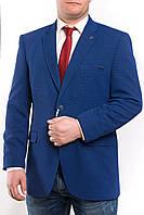 Мужской пиджак больших размеров светло-синего цвета Victor Enzo7010