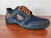 Туфли мужские джинсовые, фото 1