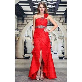 Женское платье от Festamo - red - Мкл-F8476-red