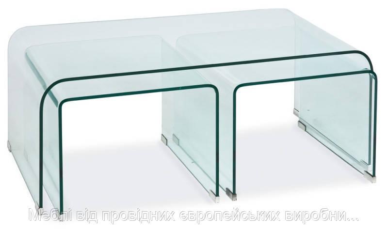 Журнальный столик Priam A SIGNAL стеклянный