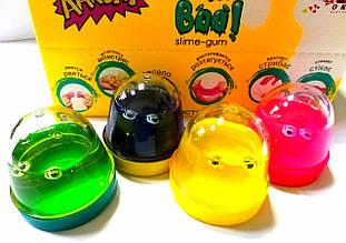 Слайм А569684 Mr.Boo з вічками 100гр. (уп. 24шт), лизун, жуйка для рук, slime