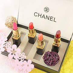 Подарочный набор помад Chanel 4 в 1, набор помад Шанель, подарочный набор Шанель реплика, Акция!