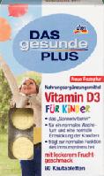 DAS gesunde PLUS Vitamin D3 fur Kinder  детские витамины для нормального роста и развития костей 60 шт.