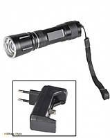 Ліхтарик на акумуляторі c лампою CREE Q3 (Black), фото 1