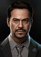 Картина GeekLand Iron Man Железный Человек Тони Старк 40х60см IM.09.141
