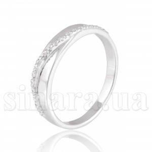 Кольцо из белого золота с цирконием 30100