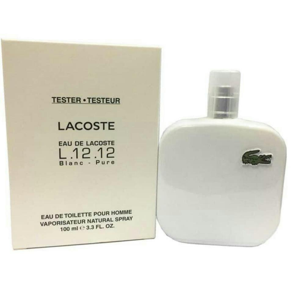 Мужская туалетная вода Lacoste L.12.12 Blanc EDT 100 ml TESTER