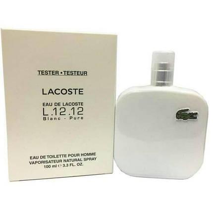 Мужская туалетная вода Lacoste L.12.12 Blanc EDT 100 ml TESTER, фото 2