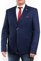 Мужской пиджак больших размеров синего цвета Victor Enzo 5055