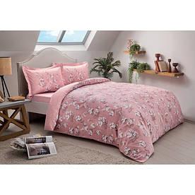 Постельное белье Tac сатин - Lennie pembe v02 розовый евро