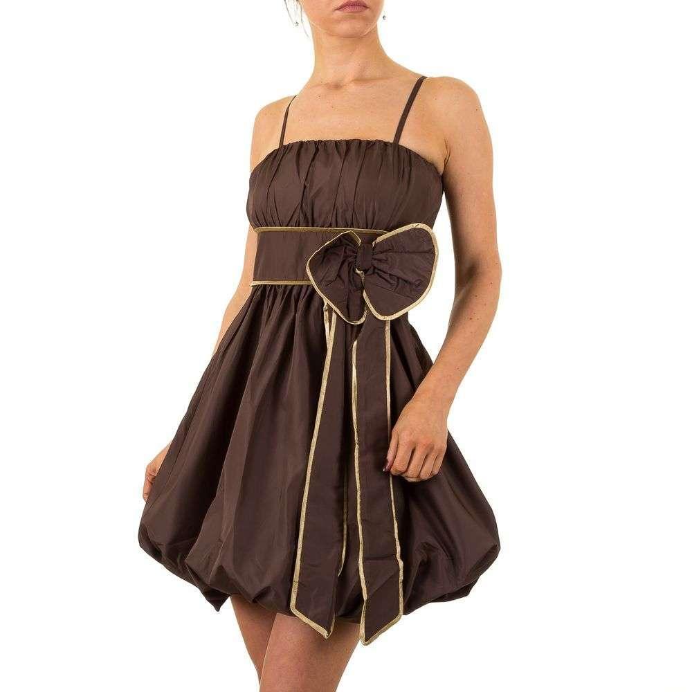 Женское платье от Qed London, размер XS - Браун золото - KL-NL1456-коричневый золото