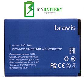 Оригинальный аккумулятор АКБ (Батарея) для Bravis A401 Neo 1650 mAh 3.8V