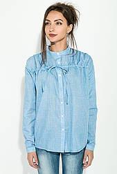 😜Рубашка женская с завязками на груди (голубая)