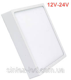 Светодиодный cветильник накладной Slim SL-466 18W 12-24V 4000K квадрат белый IP20 Код.59468
