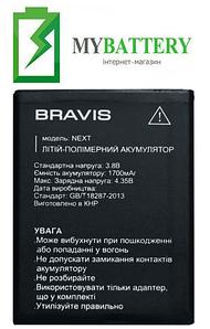 Оригинальный аккумулятор АКБ (Батарея) для Bravis Next 1700 mAh 3.8V