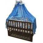 """Акция! Комплект """"Малыш с комодом темный"""" : Комод кроватка маятник матрас кокос постельный набор, фото 2"""