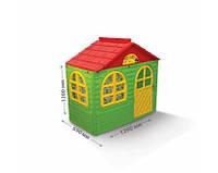 """Игровой домик для детей от 1 года, зеленый с красной крышей """"Фламинго"""" маленький"""