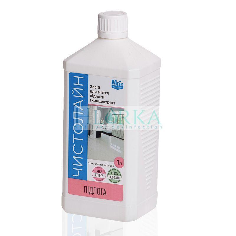 Чистолайн Пол 1 л - для мытья всех типов полов, ручным и машинным способом