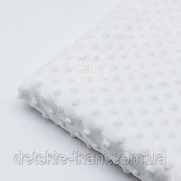 Лоскут плюш minky М-13 ,размером 50*160 см цвета слоновой кости