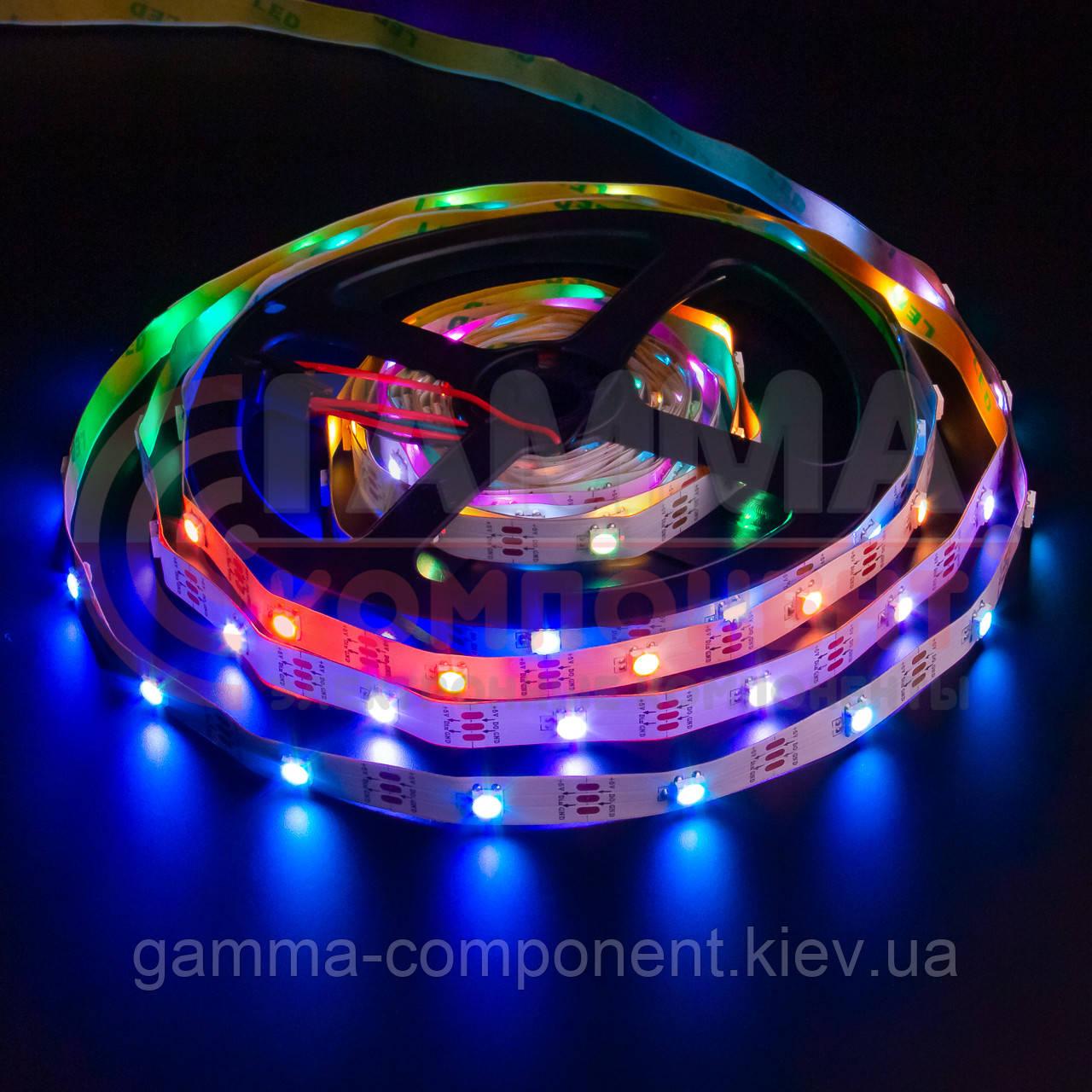 Адресная светодиодная лента AVT PROFESSIONAL SMD 5050 WS2812B (30 LED/m), IP20, 5B - бобины от 5 метров.