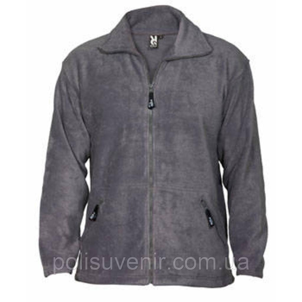 Флісова куртка з високим коміром-стійкою