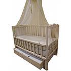 """Акция! Комплект """"Малыш с комодом карапуз ваниль"""" : Комод, кроватка маятник, матрас кокос, постельный набор, фото 2"""