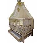 """Акция! Комплект """"Малыш с комодом карапуз ваниль"""" : Комод, кроватка маятник, матрас кокос, постельный набор, фото 4"""