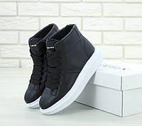 Женские кроссовки Alexander McQueen High Black/White