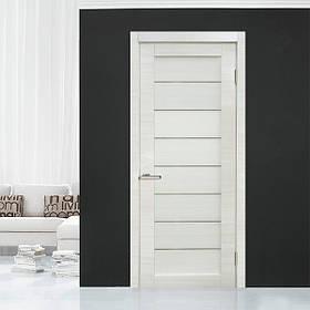 "Дверне полотно Cortex Deco 10 Bianco / Bianco line ""ПО-сатин"" ""Оміс"""