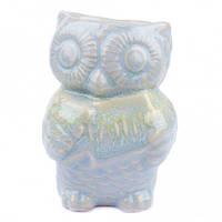 Аромалампа Сова, овальная чаша, керамика, бирюзовый