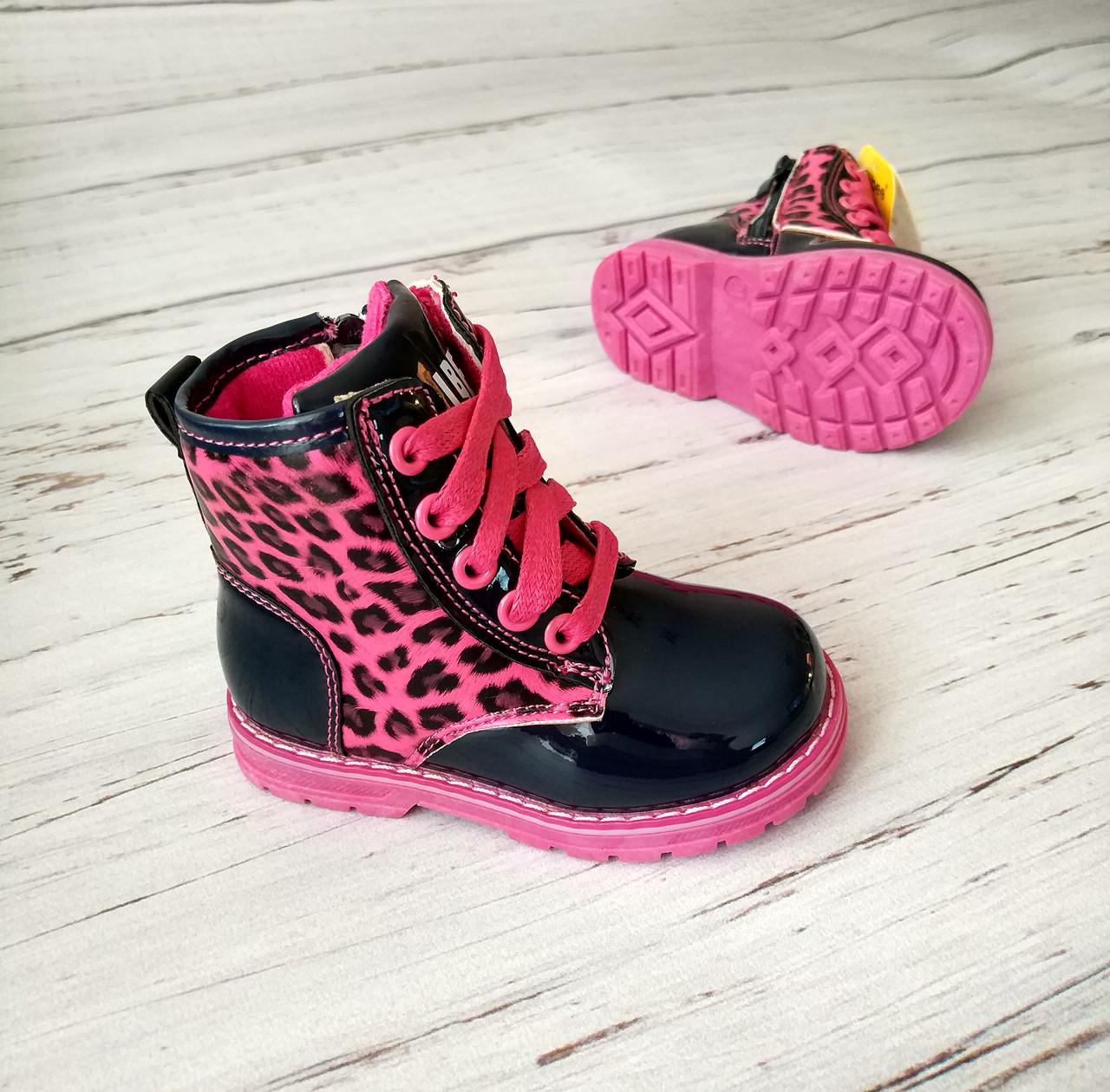 Обувь для девочек, детские ботики черные, Clibee Польша