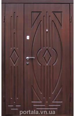 """Входные двери """"Портала""""  Комфорт 1200*2040 мм ПВХ/ПВХ"""
