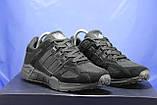 Чоловічі чорні кросівки сітка і натуральний замш в стилі Adidas Torsion (адідас торшин), фото 3