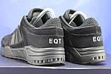 Чоловічі чорні кросівки сітка і натуральний замш в стилі Adidas Torsion (адідас торшин), фото 4