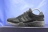 Чоловічі чорні кросівки сітка і натуральний замш в стилі Adidas Torsion (адідас торшин), фото 5