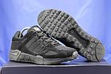 Чоловічі чорні кросівки сітка і натуральний замш в стилі Adidas Torsion (адідас торшин), фото 2