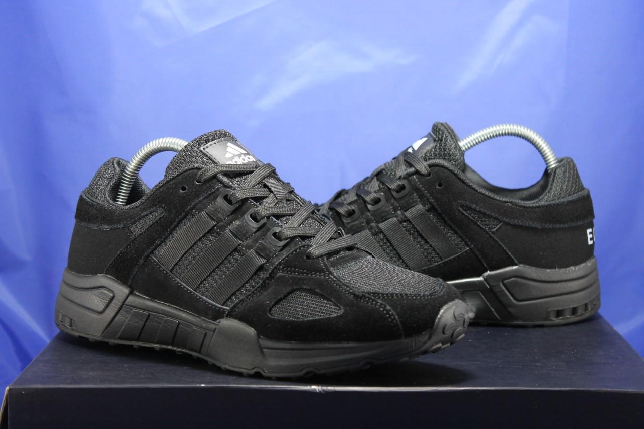 Чоловічі чорні кросівки сітка і натуральний замш в стилі Adidas Torsion (адідас торшин)