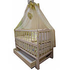 """Акция! Комплект """"Малыш с комодом фото ваниль"""" : Комод фото, кроватка маятник, матрас кокос, постельный набор, фото 10"""