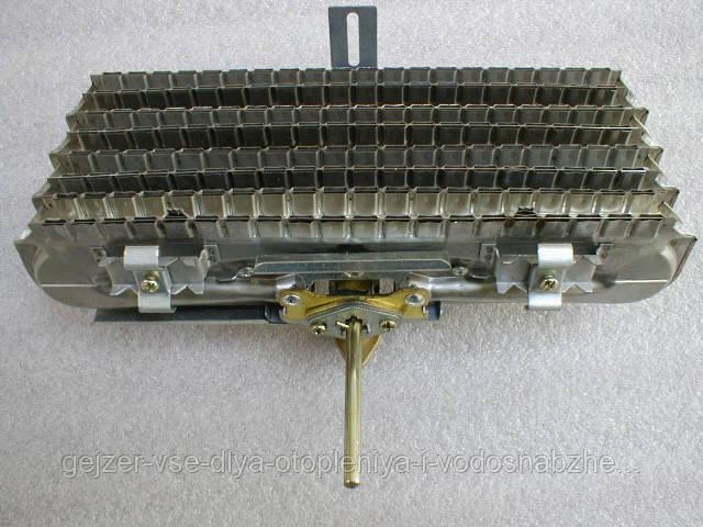 Горелка газовая в сборе (5 рассекателей) для газовой колонки Дион