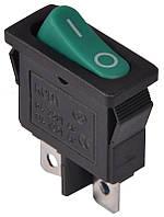 KCD1-12-101 G/B  Переключатель 1 клав. (зеленая овальная клавиша)