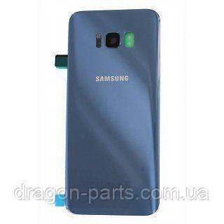 Крышка задняя  Samsung G955 Galaxy  S8+ Plus Голубой/Blue, оригинал GH82-14038D, фото 2