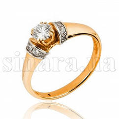 Кольцо из желтого золота с бриллиантами 7110