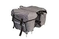 Велосумка штаны, на багажник QIJian QJ-050 (серый)