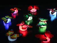 Светодиодная настенная наклейка бабочка. Меняет свет.