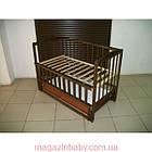 """Акция! Кроватка маятник """"Малыш Люкс"""" с ящиком, матрас кокос, постельный набор 8 эл., фото 2"""