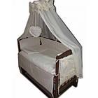 """Акция! Кроватка маятник """"Малыш Люкс"""" с ящиком, матрас кокос, постельный набор 8 эл., фото 4"""