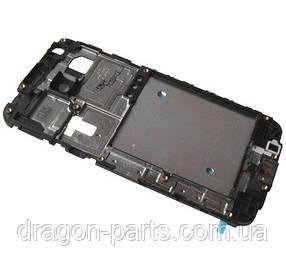Рамка средняя часть корпуса  Samsung J100 Galaxy  J1 2015 Черный/Black, оригинал GH98-36019A