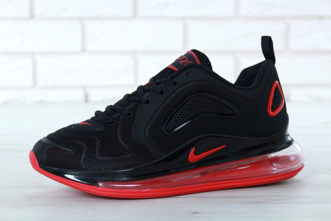 826af173 Мужские кроссовки Nike Air Max 720 (в стиле Найк Аир Мах 720) черно-красные,  текстиль