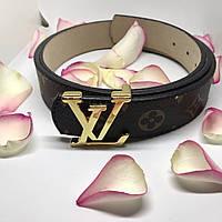 Ремень женский  в стиле  Louis Vuitton Initiales ( Луи Витон)